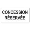 Adhésif plaque cimetière : concession réservée