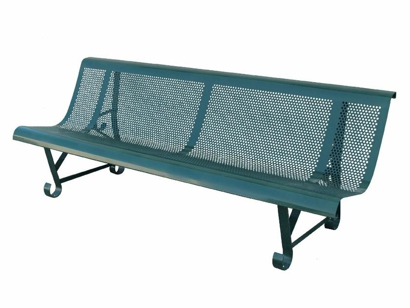 banc m tal square mat riel pour collectivit s. Black Bedroom Furniture Sets. Home Design Ideas