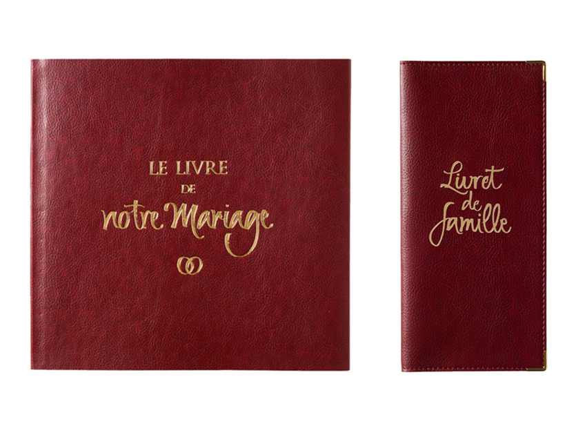 Prot ge livret de famille simili cuir grain pour mairie for Le livre de mariage