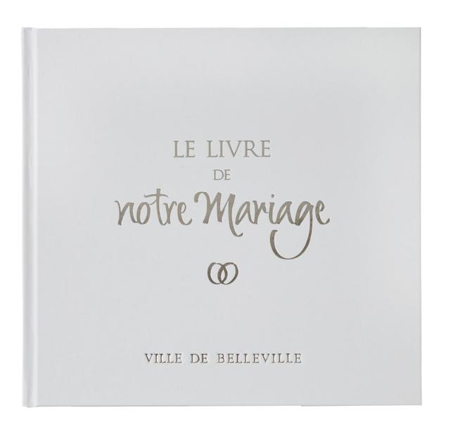 Le Livre D Or De Notre Mariage Connecte Avec Couverture Pelliculee