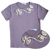 T Shirt Ninon manches courtes mauve