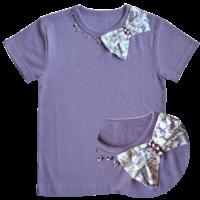 T Shirt Ninon Mauve manches courtes