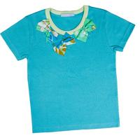T Shirt Aude bicolore manches courtes