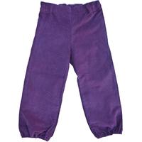 Pantalon Daphné en velours de coton violet