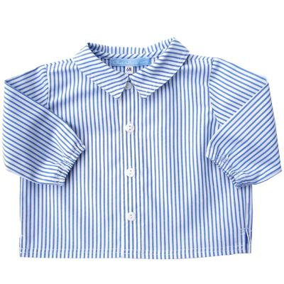 Chemise Arthur coton rayé bleu et blanc
