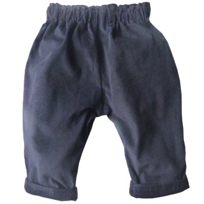 Pantalon Victor velours de coton bleu