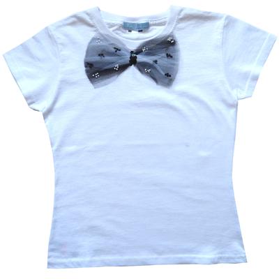 T Shirt Princesse garni d'un noeud de tulle et paillettes