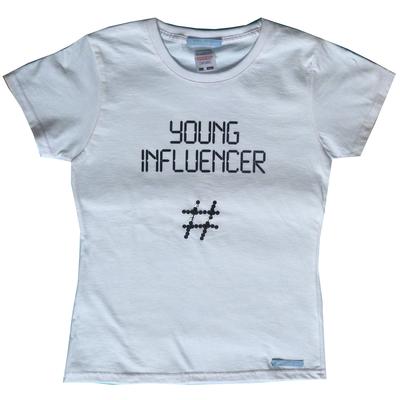 T Shirt imprimé et brodé