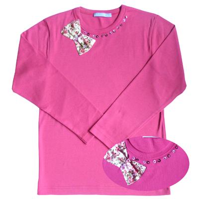 T Shirt Ninon Fushia manches longues