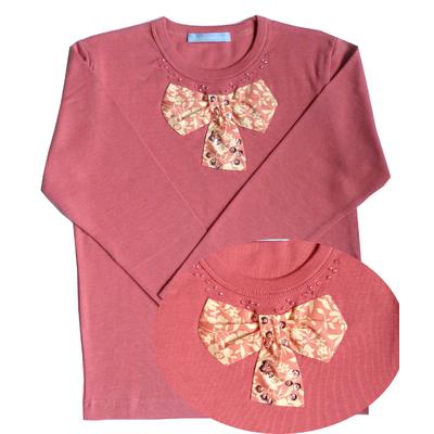 T Shirt Ninon Rose poudré manches longues