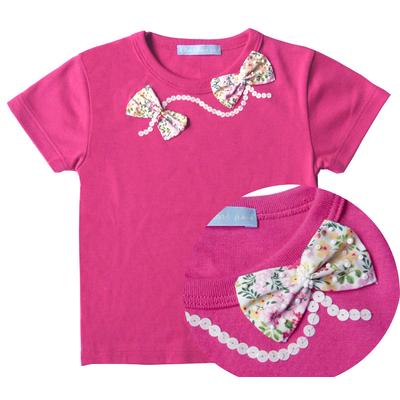 T Shirt Ninon Fushia manches courtes