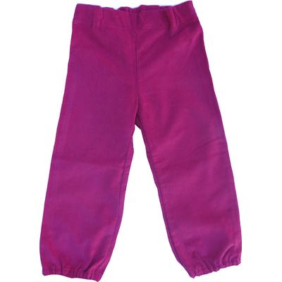 Pantalon Daphné en velours de coton Fushia