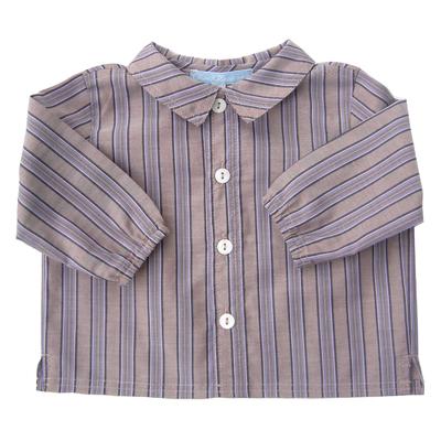 Chemise Arthur rayée marron bleue