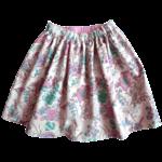 Jupe Audrey coton imprimé double tissu