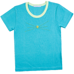 T Shirt Chaton bicolore manches courtes