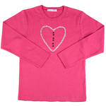 T Shirt Coeur Rose Manches longues