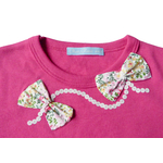 t shirt rose col