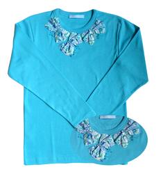 t shirt ninon bleu ft double copie