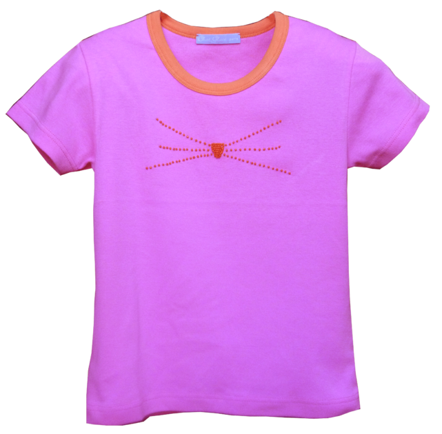 t-shirt-chaton-rose-1