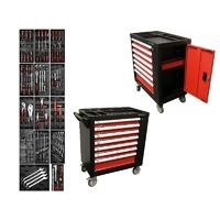 Servante d'atelier 7 tiroirs 1 porte latérale avec 197 outils