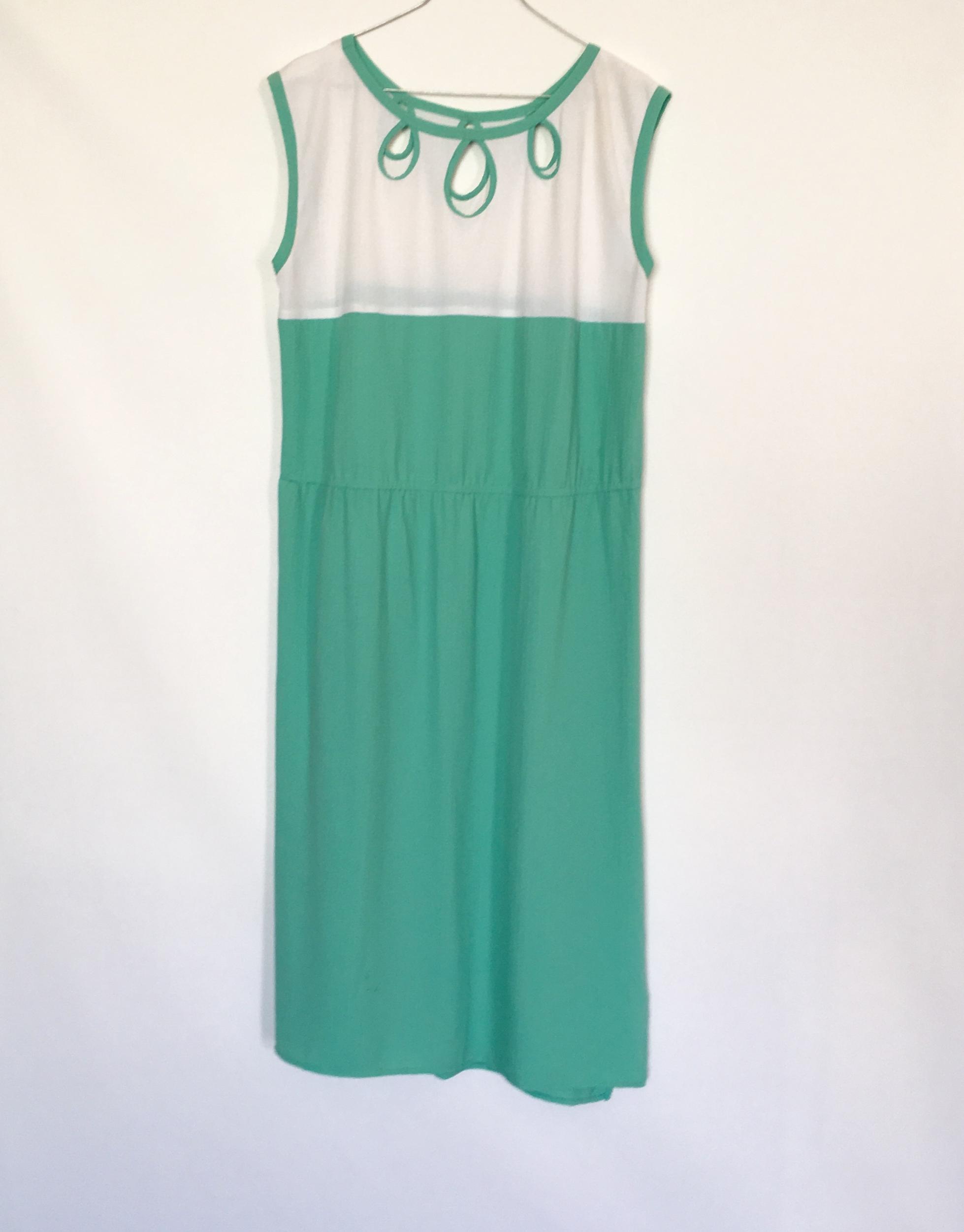 robe vintage menthe à l'eau