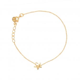 bracelet-chaine-dore-etoile