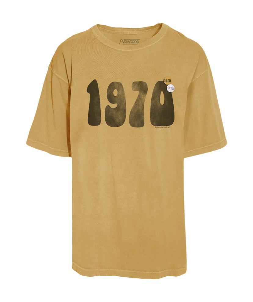 t-shirt newtone 1970 moutarde