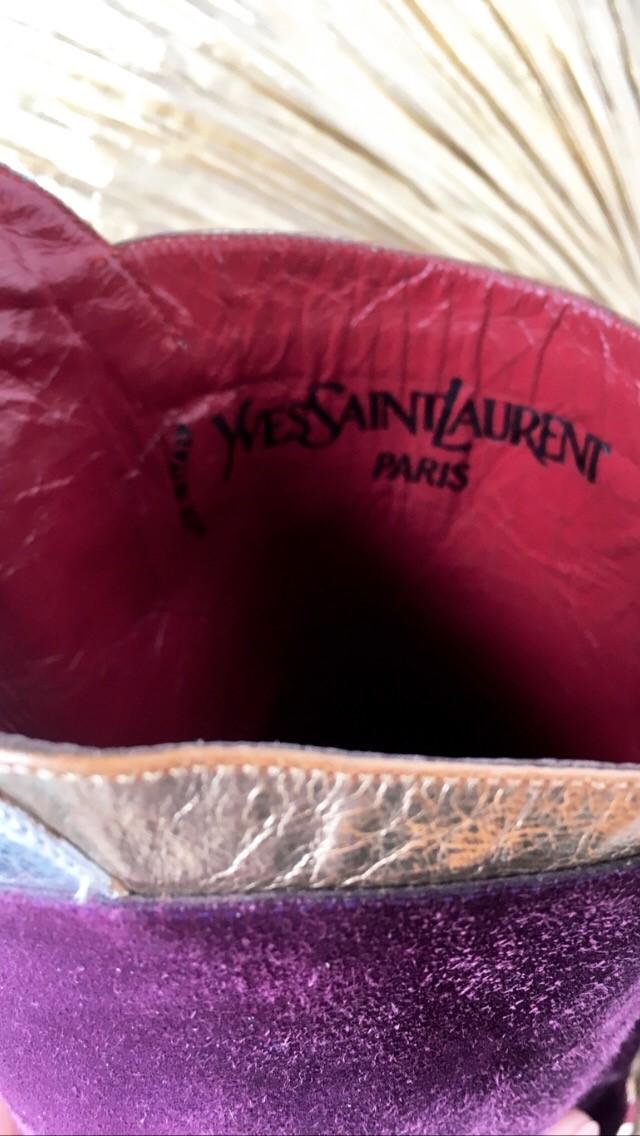 bottes yves saint laurent détail