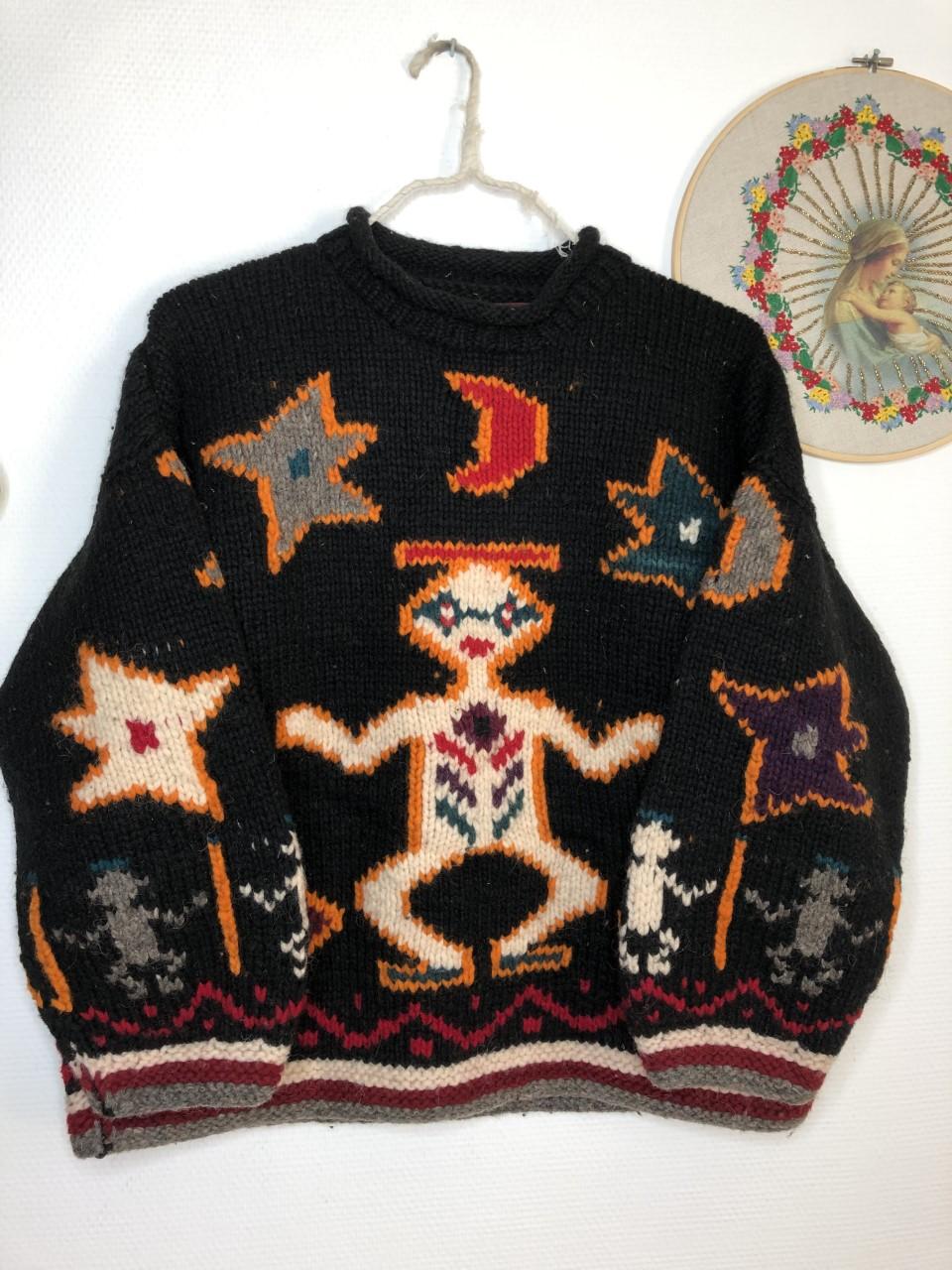 pull aztèque vintage