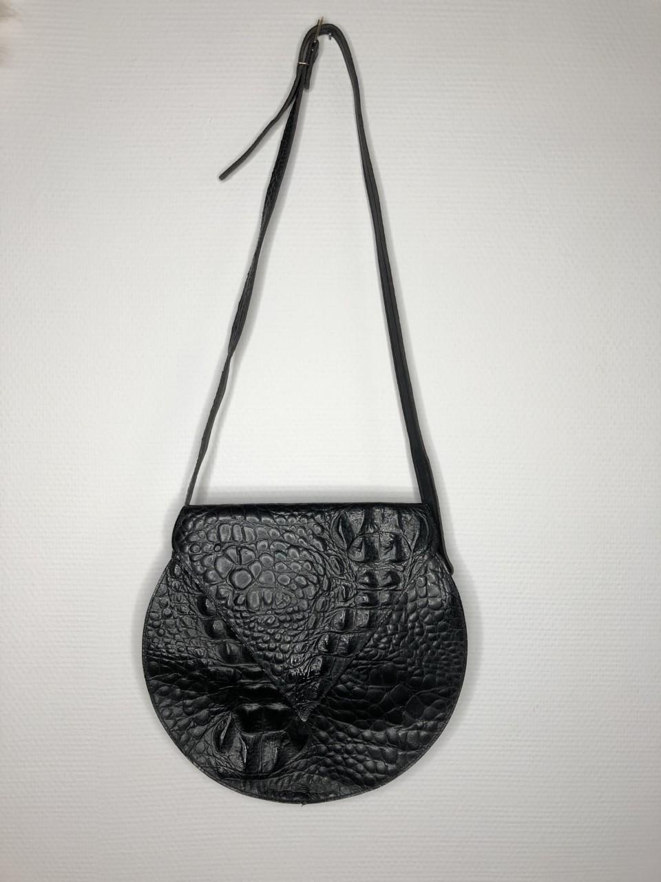 sac cuir noir vintage