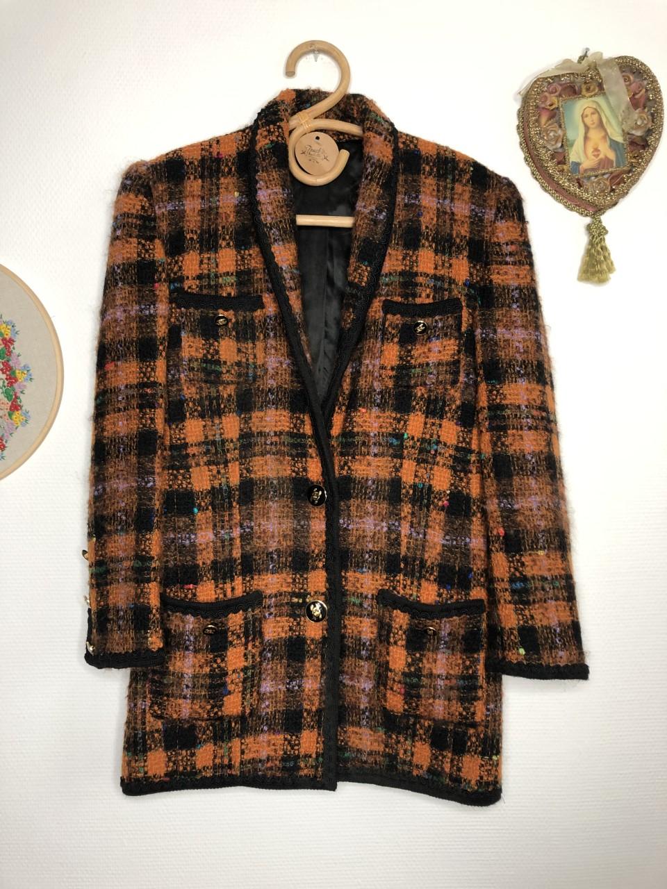 veste tweed vintage