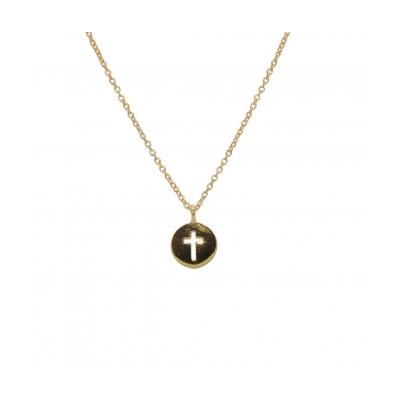 Collier médaille croix