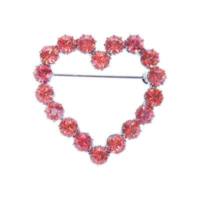 Broche coeur Lola orange