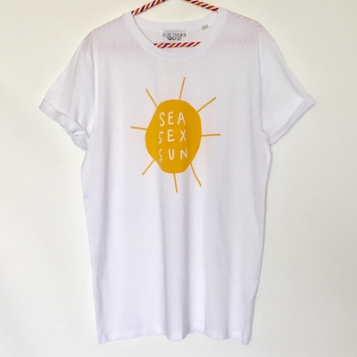 T shirt Sea Sex and Sun by Elise Chalmin