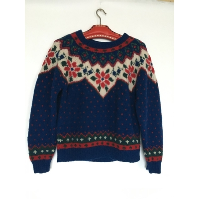 Pull tricoté main vintage