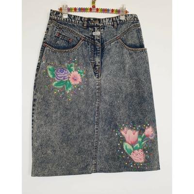Jupe jean années 80
