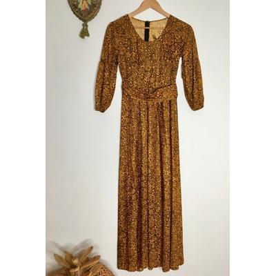 Robe longue bohème vintage