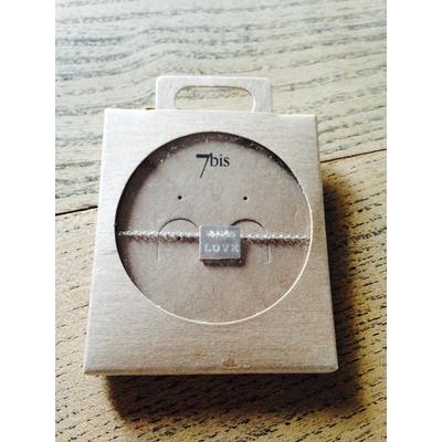 Bracelet 7bis argent Love