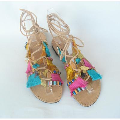 Sandales Boho strass et franges