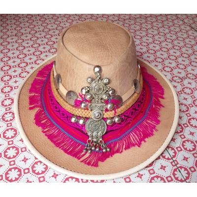 Chapeau en cuir Ibiza