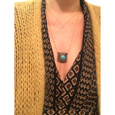 Collier Amulette turquoise