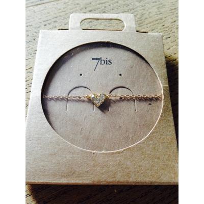Bracelet 7bis cœur strass