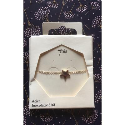 Bracelet 7bis étoile unique
