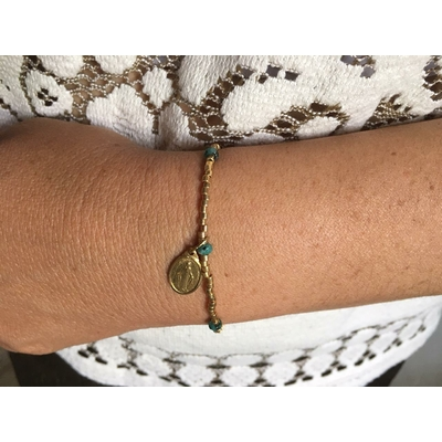Bracelet Madone vert