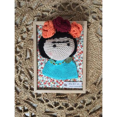 Tableau crochet Frida Kahlo