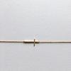 bracelet 7bis doré croix