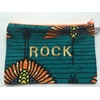 POCHETTE ROCK VERTE ORANGE DORE
