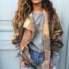 manteau patchwork cuir