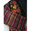 veste guatemala brodée détails