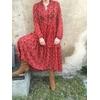 Robe isabel kilibbi rouge portée